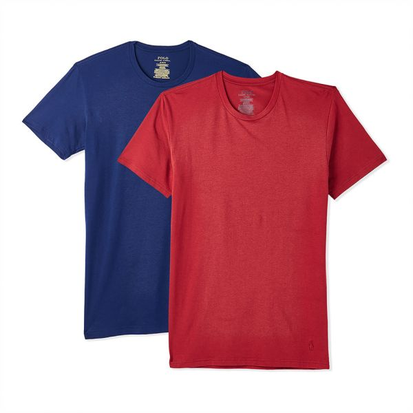 8c457c558329 ... Crew Neck T-Shirt Set for Men - Red and Blue. by Polo Ralph Lauren