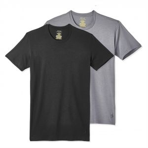 b29ef9581fe5 Polo Ralph Lauren Crew Neck T-Shirt Set for Men - Black and Grey