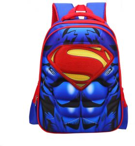 dee6347e6959 Superman Muscle Nylon Children Boy Safe School Backpack - Cool 38x28x12 CM  Waterproof