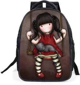 989a42b3c27c 16 inch Cute Cartoon Pretty Little Gril with Her Cat Breathable Poloyster  Children Gril School Backpack - Lovely 42x32x16 CM Burdeon-released ...
