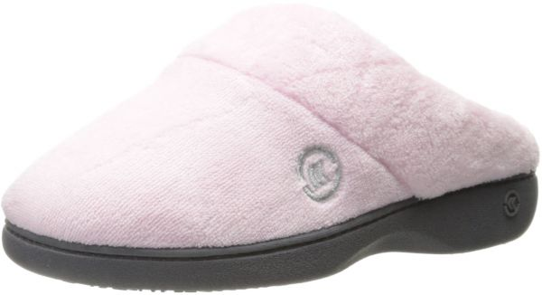 1934d1a88155 ISOTONER Women s Terry Slip On Cushioned Slipper with Memory Foam for Indoor  Outdoor Comfort and Arch Support
