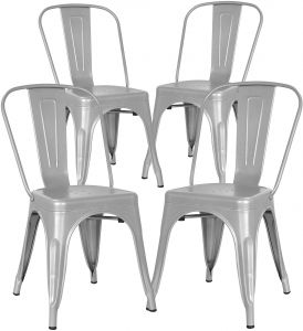 Terrific Poly And Bark Trattoria Side Chair In Grey Set Of 4 Bralicious Painted Fabric Chair Ideas Braliciousco