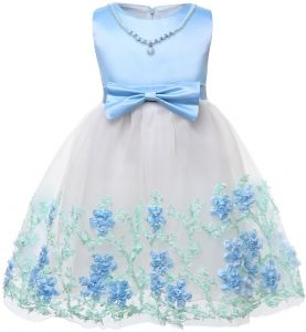 b1809b8974 Baby Girls Embroidered Christening Baptism Dress Formal Party Gowns Skirt  Sleeveless Pearl Children Performance Show Dress