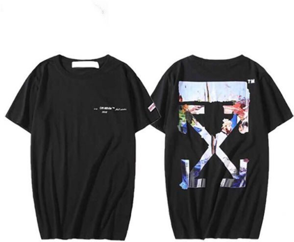 003176bb off-White Oil Painting T-Shirt Unisex Short Sleeve Tee For Men and ...