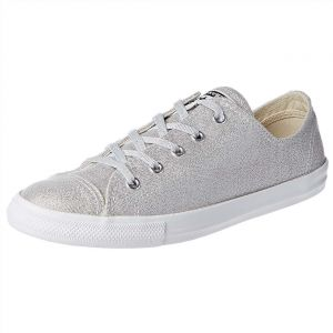 67f58b36647c Converse Chuck Taylor All Star Dainty Fashion Sneakers for Women - Silver
