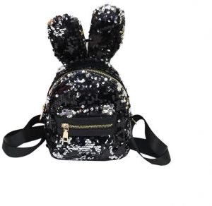 d4418ca1b8d5 Fashion Rabbit Ear Sequins Girl Travel Leisure Student Backpack Girl
