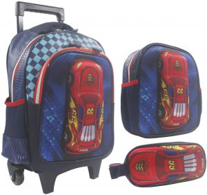 459a25895e Cars 3D School Bag Trolley With Backpack For Kids 14 Inch Set Of 3