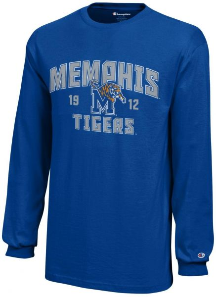 competitive price 740fd ade77 Champion NCAA Memphis Tigers Youth Boys Long sleeve Jersey T-Shirt, Medium,  Royal Blue
