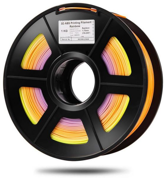 PLA 3D Printer Filament Color Changing Rainbow Multicolor 1.75mm 1kg Spool Dimensional Accuracy  +/- 0.02mm (1 Roll, Color Random Delivery)