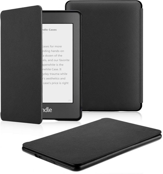 Protective Case compatible for Kindle Paperwhite 2018 - PU Leather Smart  Cover with Auto Wake/Sleep - Fits Amazon All- Kindle Paperwhite PU Leather