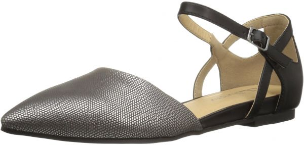5d2e27bd25 CL by Chinese Laundry Women's Helena Pointed Toe Flat, Pewter/Black Lizard,  8 M US | KSA | Souq
