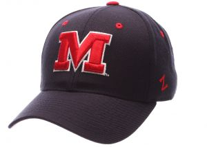 online store cc7f7 b0e1f ZHATS NCAA Mississippi Old Miss Rebels Men s DH Fitted Cap, Navy, Size 7 3 4