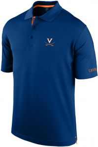 0b470296 J America NCAA Virginia Cavaliers Men's Spector Poly Interlock Polo Shirt,  Navy/Orange, XX-Large