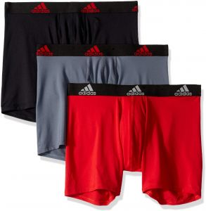bfb685984e41 adidas Men s Sport Performance Climalite Boxer Briefs (3 Pack)