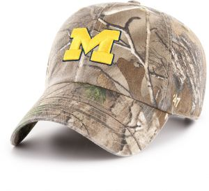 super popular 6c745 abcb0  47 NCAA Michigan Wolverines Adult Clean Up Realtree Adjustable Hat, One  Size, Realtree Camo