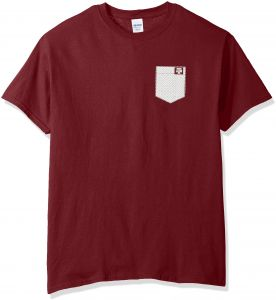 lowest price 7b2ae 494a2 New World Graphics NCAA Texas A M Aggies Faux Pocket Short Sleeve,  XX-Large, Maroon