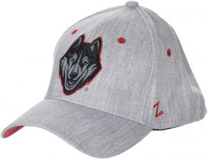 34c14e38 Zephyr NCAA Connecticut Huskies Mens Tailoredtailored Stretch Cap, Grey,  X-Large