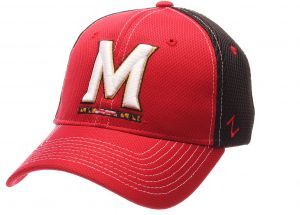 e1b9f06588cec4 Zephyr NCAA Maryland Terrapins Men's Rally Z-Fit Cap, X-Large, Red/Black