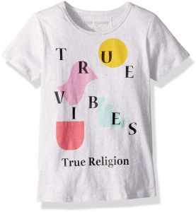 b47f5d25a True Religion Little Girls  Fashion Short Sleeve Tee Shirt