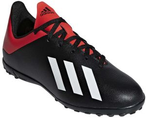 0ae9434c34395 adidas X 18.4 TF J Football Shoes for Kids - Core Black Off White Active Red