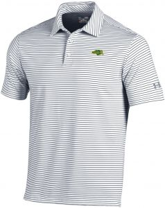 18dc6c028 Under Armour NCAA North Dakota State Men's Playoff Short sleeve Stripe Polo  Shirt, X-Large, White