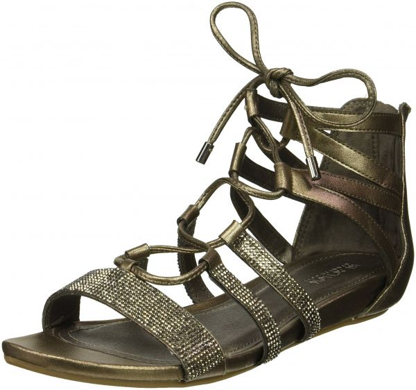 f37d0d75125 Kenneth Cole REACTION Women s 7 Lost Look Gladiator Laceup Sandal ...