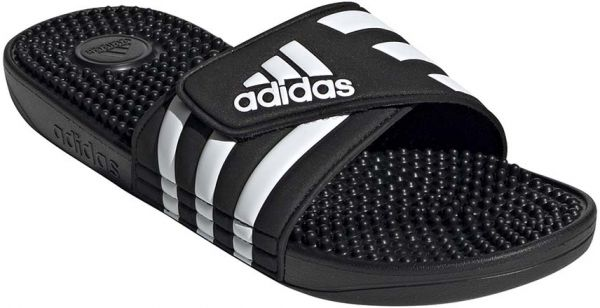 366083222 adidas Adissage Flat Sandals for Women - Core Black FTWR White. by adidas
