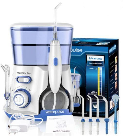 WaterPulse Irrigator Oral Dental Electric Power Floss Dental Water Jet  Cleaning Teeth Water Flosser With 5 Jet Tips Spa