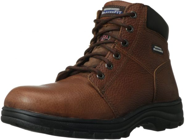 d6e24d952e9 Skechers for Work Men s Workshire Relaxed Fit Work Steel Toe Boot