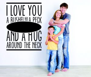 068dc442dd Design with Vinyl RAD 1050 1 I Love You A Bushel and A Peck and A Hug  Around The Neck Quote Wall Decal 20 x 30 RAD 1050 3 1
