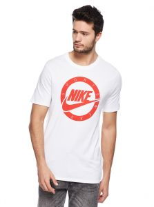 dbeee4a547ede4 Nike Sports T-shirt for Men - White University Red