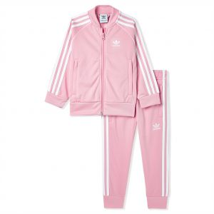 ab2e52b77641 adidas L TRF SST Sports Track Suit for Boys - Light Pink