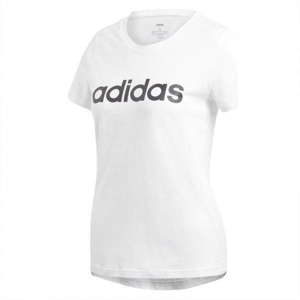 Adidas W E LIN SLIM T T Shirt (Short Sleeve) For Women
