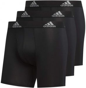 202eee4c7d7a adidas Men's Sport Performance Climalite Boxer Briefs (3 Pack), Black/Black  Black/Black Black/Black, Medium
