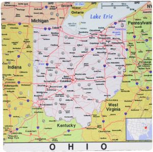 Buy universal map ohio state and city and regional map | Kappa Map ...