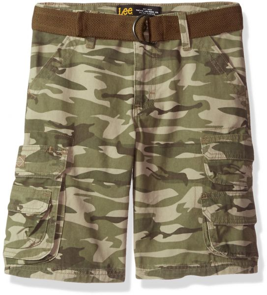 053a960a84 LEE Big Boys' Dungarees Belted Wyoming Cargo Short, Marshall Camo, 16  Regular | Souq - UAE