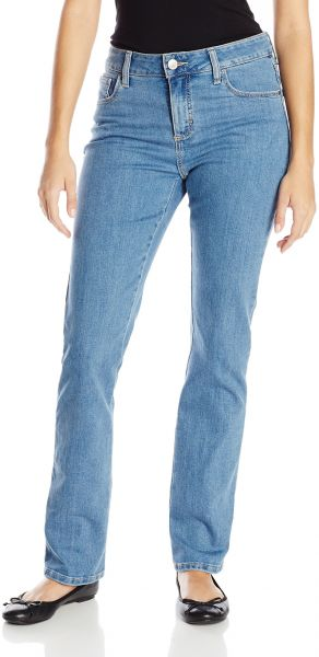 f6969265 LEE Women's Instantly Slims Classic Relaxed Fit Monroe Straight Leg Jean,  Pearl, 12. by Lee, Pants - Be the first to rate this product