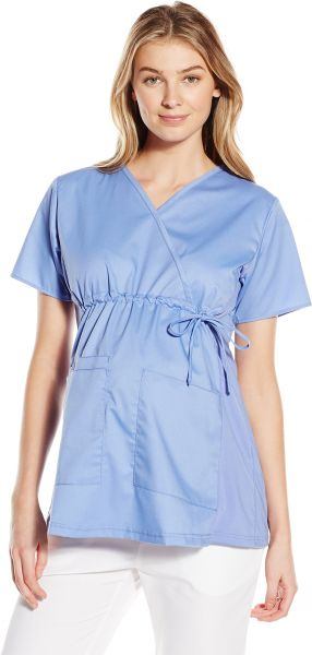0dff07fa313 WonderWink Women's Wonderwork Maternity Top, Ceil Blue, Large. by  WonderWink, Uniform - Be the first to rate this product