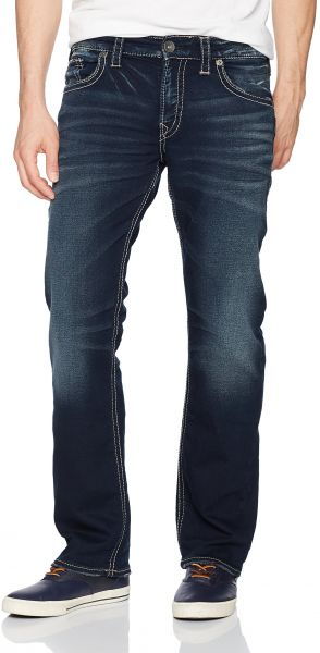 355db56a Silver Jeans Men's Zac Relaxed Fit Straight Leg Jeans Pants, Dark ...