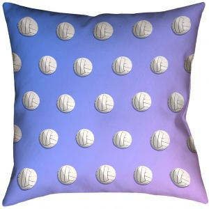 ArtVerse Katelyn Smith 16 x 16 Spun Polyester Double Sided Print with Concealed Zipper /& Insert Teal Volleyball Pillow
