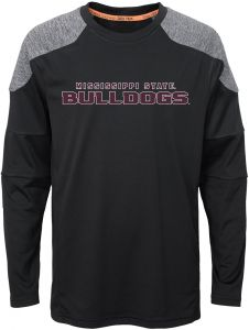 74c52b9dd NCAA Mississippi State Bulldogs Youth Boys Gamma Long Sleeve Performance  Top, Black, Youth X-Large(18)