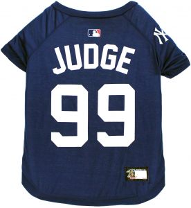 225c092c0b3 MLBPA Aaron Judge #99 TEE Shirt for Dogs & Cats. MLB New York Yankees Dog T- Shirt, X-Large | Sports Dress for Pets | Licensed Sporty Dog Shirt.