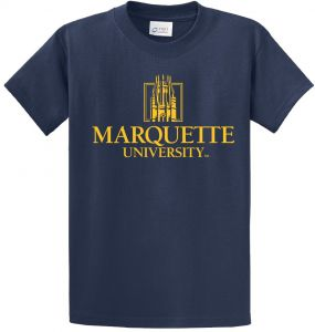 brand new 415cc 148ed NCAA Marquette Golden Eagles Short Sleeve Tee, XX-Large, Navy