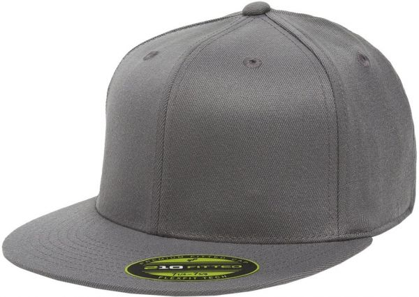 37cfb429 Flexfit/Yupoong Men's 210 Fitted Flat Bill Cap, Dark Gray, Large/Extra Large
