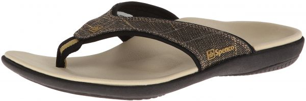Multiple Sizes Spenco Women/'s Yumi White Gold Canvas Total Support Sandals