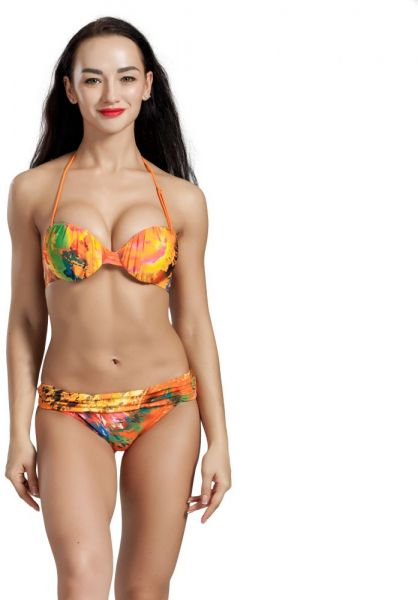 Simply Be Womens Simply Yours Gathered Halter Bikini Top