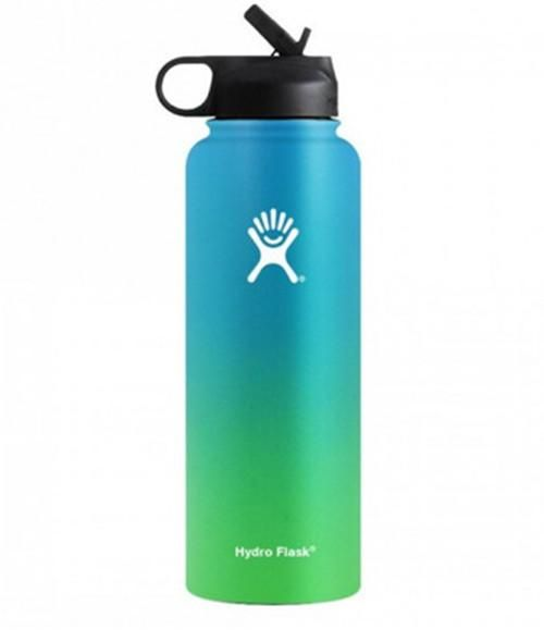 Hydro Flask Insulated Sports Water Bottle, Straw Lid, Wide Mouth, Hot & Cold, Outdoor Camping Hiking Flask