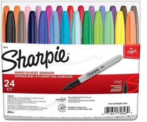 1948379 Sharpie Color Burst Permanent Markers Fine Point Assorted 3//Pack