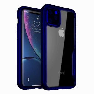 Ipaky Cover Iphone 11 Pro Max With A Dark Blue Frame And Transparent Background Buy Online Mobile Phone Accessories At Best Prices In Egypt Souq Com