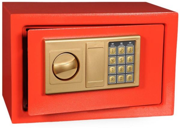 Digital Electronic Password Safe Box Keypad Lock Home Security   RED